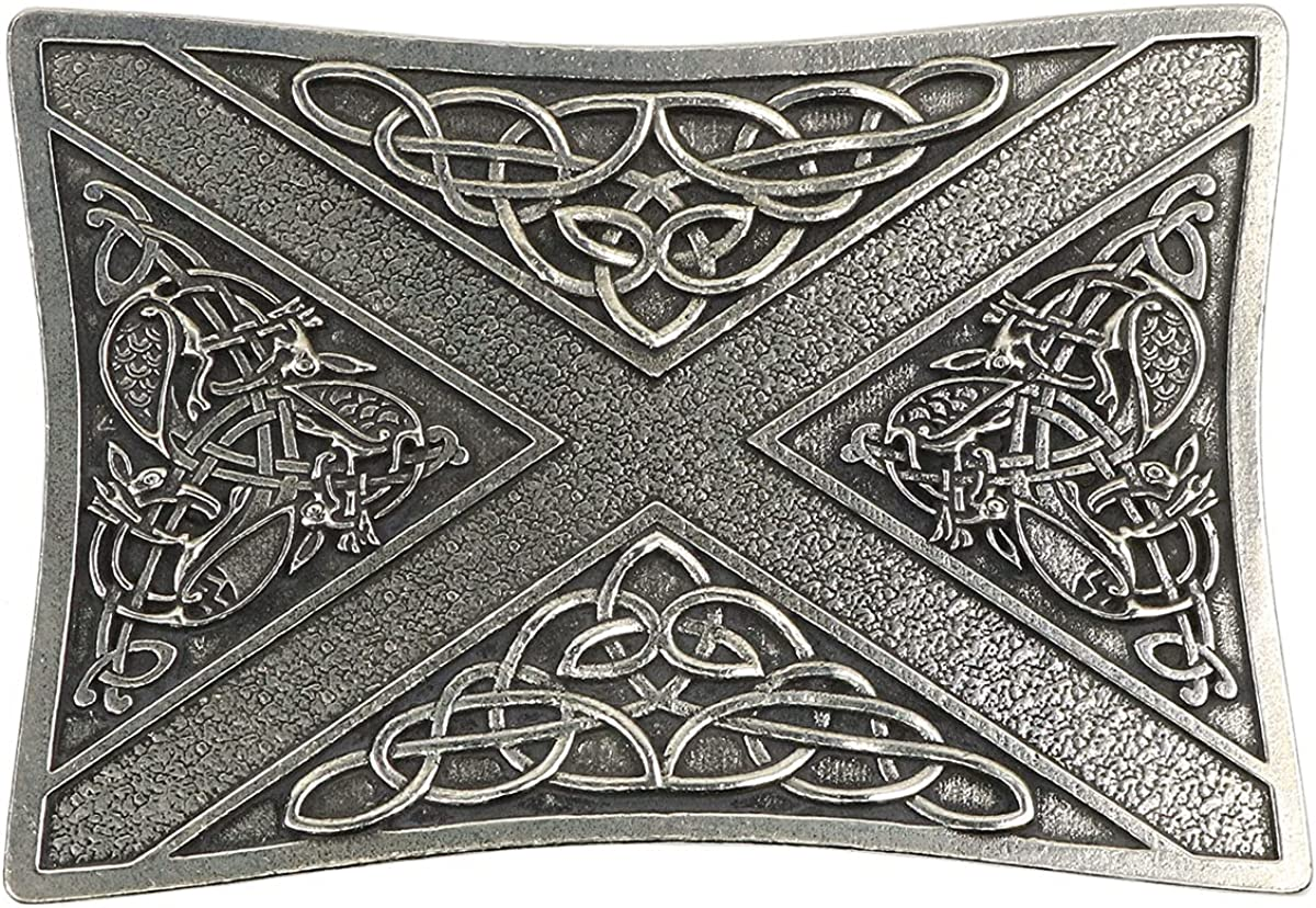 Celtic Saltire 2021 store spring and summer new Kilt Belt Buckle In Made Scotland -