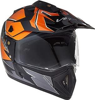 Vega Off Road D/V Mud Black Orange Helmet, L