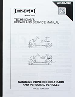 EZGO 28648G01 2001 Technician's Repair and Service Manual for Gas TXT Golf Cars