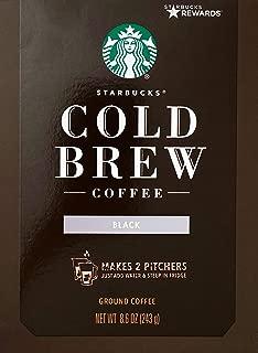 Starbucks Cold Brew Ground Coffee Medium-Roast, 8.6 Ounce, Makes 2 Pitchers