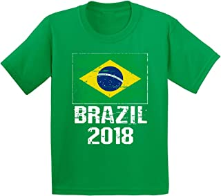 Brazil 2018 Shirt Youth Brazil Flag T Shirt Brazil Soccer Fans
