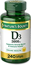 Vitamin D3 by Nature's Bounty for Immune Support. Vitamin D Provides Immune Support and Promotes Healthy Bones. 125 mcg (5...