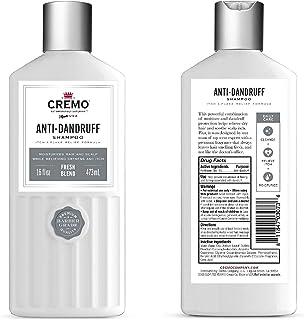 CREMO- Anti-Dandruff Shampoo - Itch & Flake Relief Formula - Fresh Blend -16 fl oz