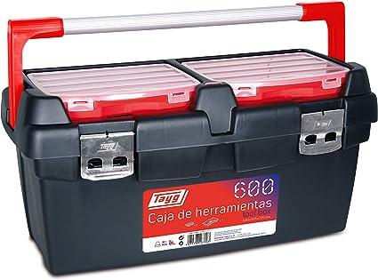 Tayg Caja herramientas plástico aluminio n. 600, negro, 600 x 305 x 295 mm: Amazon.es: Bricolaje y herramientas