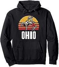 Ohio Vintage Wrestling Retro Wrestlers and Sun Graphic Pullover Hoodie