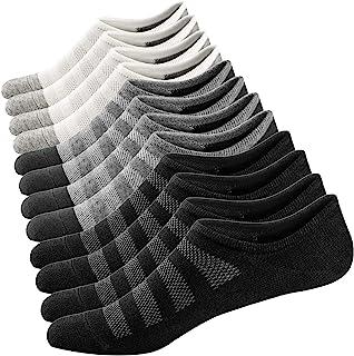 Mens No Show Socks Casual Invisible Socks Thin Sneakers Sports Socks Low Cut Liner Cotton Sock Non-Slip