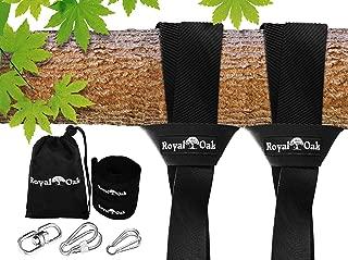 Royal Oak Easy Hang (4 FT) Tree Swing Strap x 2 - Heavy Duty Carabiner and Bonus Spinner
