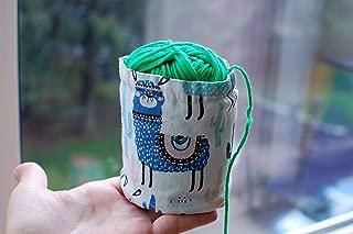 Ball sack yarn ball bag yarn bowl Lama Knitting Crochet bag Storage yarn cozy Knitting Project Bag Small Yarn Bowl Yarn Bucket