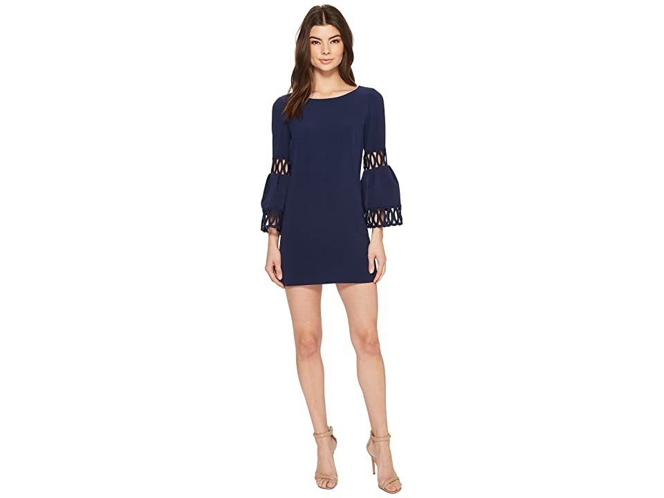 Laundry by Shelli Segal Shift Dress with Bell Sleeve (Midnight) Women