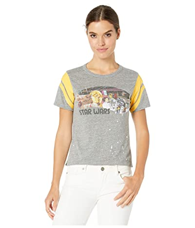 Chaser Star Wars Poster Tri-Blend Short Sleeve Hi-Low Tee (Streaky Grey) Women
