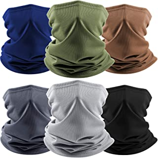 6 Pieces Summer Neck Gaiter Face Cover Scarf Breathable Face Balaclava Tube for Men Women Fishing Hiking Climbing