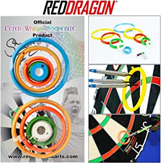 Peter Wright Snakebite Exclusive & Official Darts Practice Rings Plus Red Dragon Checkout Card