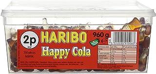 Haribo Happy Cola Bottles Tub Sweets, 960g