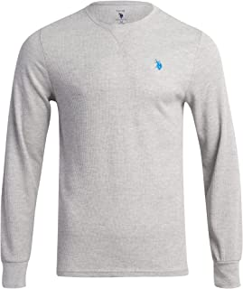 Men?s Thermal Shirt ? Long Sleeve Waffle Knit Top, Size
