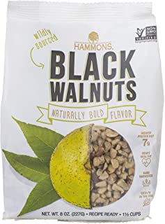 Hammons Black Walnuts, Recipe Ready, 8 oz, Highest Protein Nut, Heart Healthy, Non-GMO, Naturally Gluten-Free, Top Keto Nut