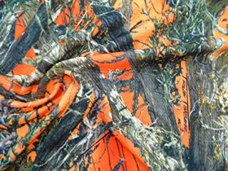 Printed Bullet Liverpool Textured True Timber Orange Blaze MC2 Camouflage Fabric U10