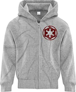 BSW Youth Boys Star Wars Imperial Crest Empire Logo Sith Lord Zip Hoodie