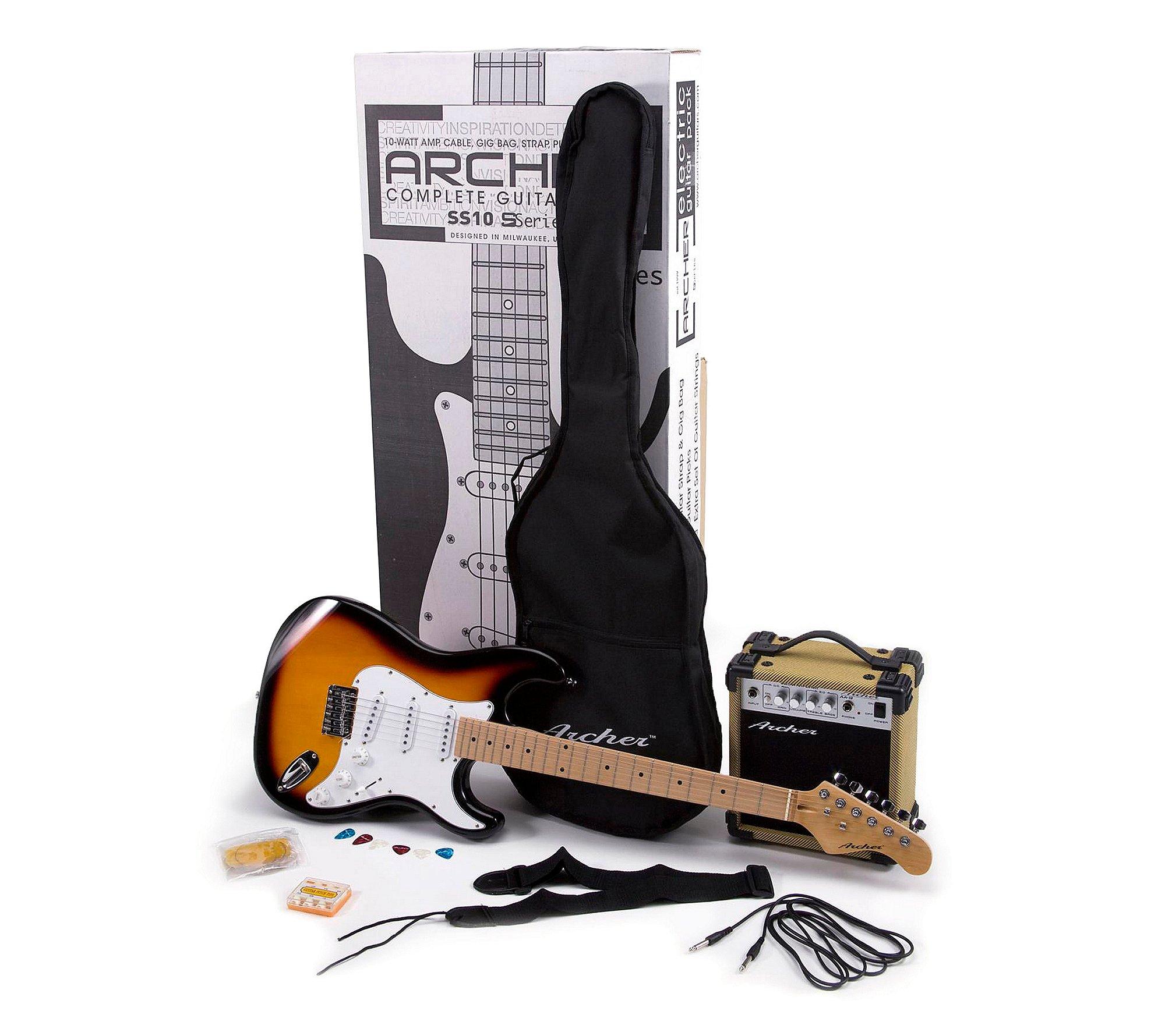 Cheap Archer SS10PAKSB Electric Guitar Package Sunburst Black Friday & Cyber Monday 2019