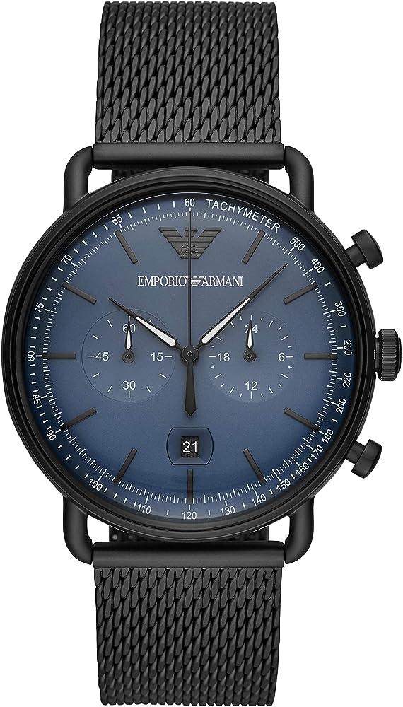 Emporio armani orologio ,cronografo per uomo,in acciaio inossidabile AR11201