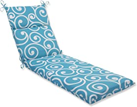 Pillow Perfect Outdoor Best Chaise Lounge Cushion, Turquoise