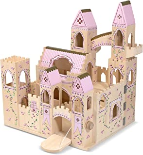 """Melissa & Doug Folding Princess Castle Wooden Dollhouse (Pretend Play Set, 27"""" H x 15.25"""" W x 17.5"""" L, Great Gift for Girls and Boys - Best for 3, 4, 5, 6, 7, and 8 Year Olds)"""