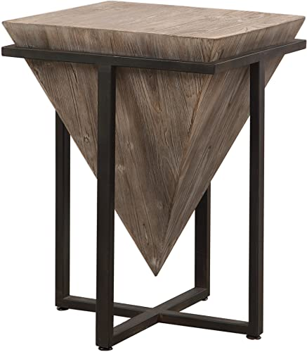 wholesale Uttermost Bertrand Accent End Table in Gray online Wash and Aged online Black sale