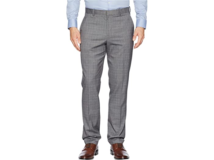 Perry Ellis Mens Slim Fit Stretch Large Windopane Plaid Dress Pant Dress Pants