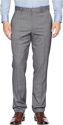 Slim Fit Tonal Plaid Dress Pants