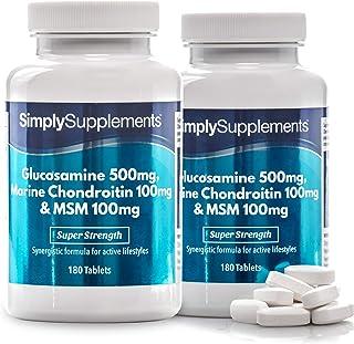 Glucosamina, Condroitina y MSM - ¡Bote para 4 meses! - 360 Comprimidos - SimplySupplements