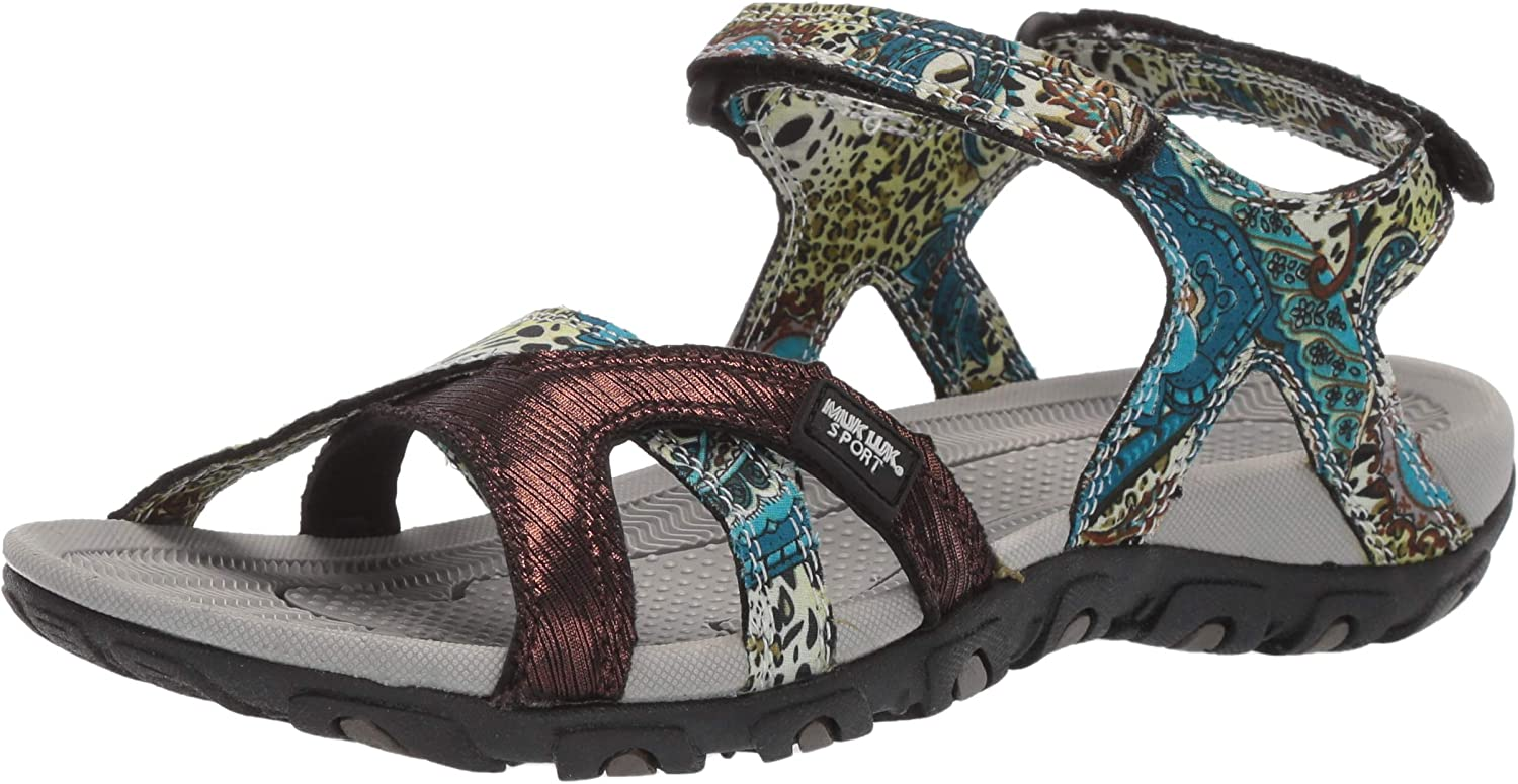 MUK LUKS Womens Women's Ophelia Sport shoes-Turquoise Sport Sandal