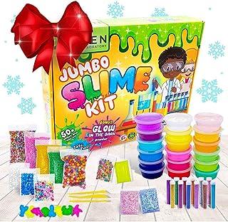 Zen Laboratory DIY Slime Kit Toy for Kids Girls Boys Ages 5-12, Glow in The Dark Glitter Slime Making Kit - Slime Supplies...