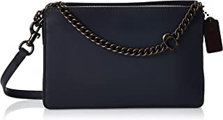 Coach Womens Chain Leather Cross-body Bag