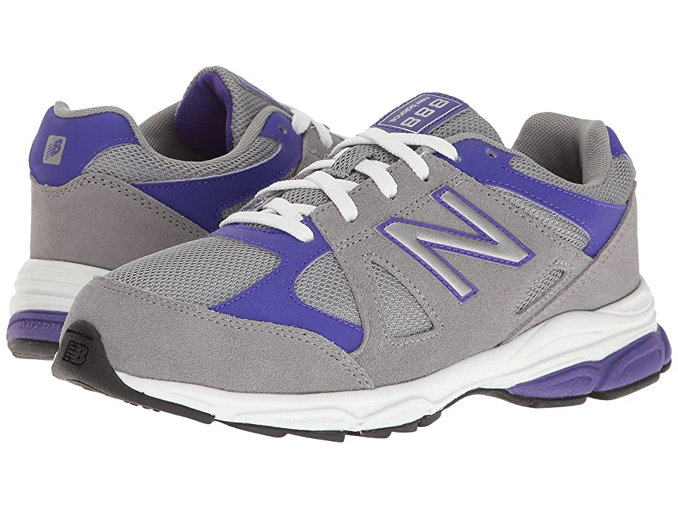 New Balance Kids KJ888v1 (Big Kid) (Grey/Purple) Girls Shoes