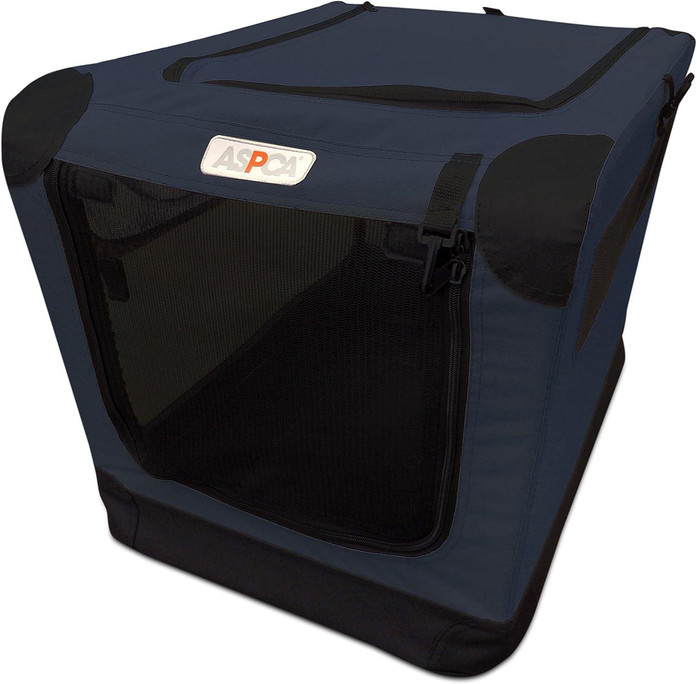 ASPCA Soft Crate, Medium, Navy