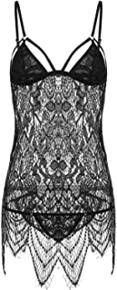 Wolas Mixed Materials Babydoll & Playsuit For Women
