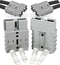 Anderson Power Products SB50 Connector Kit, 50 Amps, Gray Housing, w/10 12 AWG, 6319 (1 Pair)