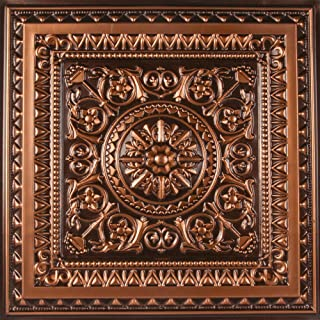 uDecor Marseille Antique Copper 2 ft. x 2 ft. Lay-in or Glue Up Ceiling Tile (Case of 12)