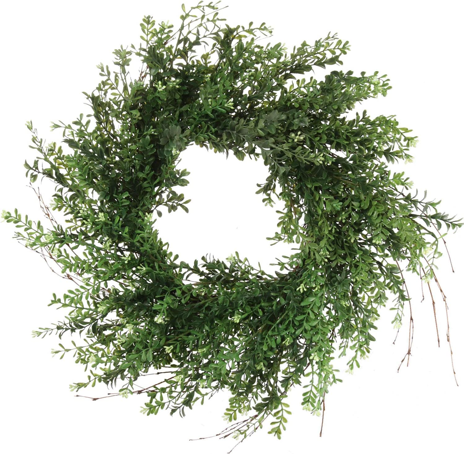 New York Mall Fort Worth Mall 24 Inch Boxwood Wreath Indoor Bambo Green Outdoor Round