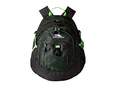 High Sierra Fatboy Backpack (Light Wave/Mercury/Lime) Backpack Bags