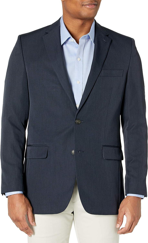 Haggar Men's Travel Performance Stria-Stripe Tailored-Fit Suit Separate Coat