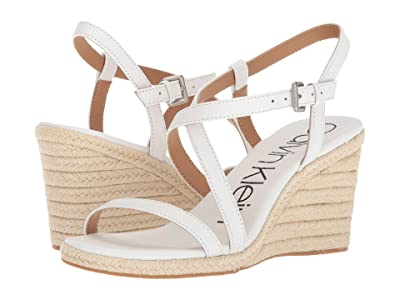 Calvin Klein Bellemine Espadrille Wedge (Platinum White) Women