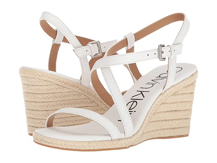 Bellemine Espadrille Wedge  Shoes (Platinum White) Women's Wedge Shoes