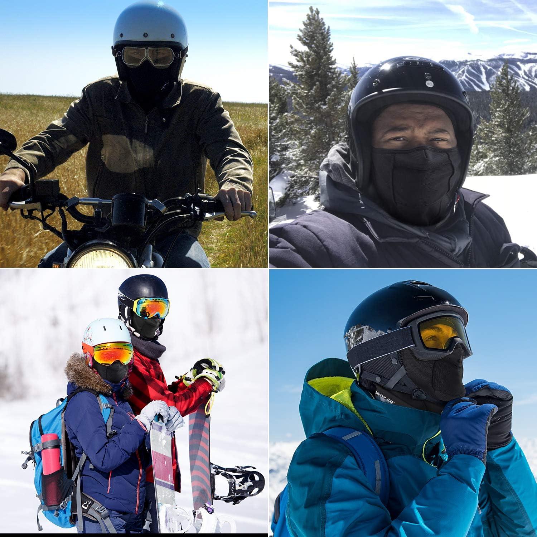 SEVENS 2 Pack SEVENS Ski Mask Winter Balaclava Fleece Hood for Men Women Skiing Snowboarding Riding