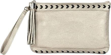 Dolce Vita Women's Vegan Leather Large Square Wristlit Wallet Cellphone Pouch Clutch