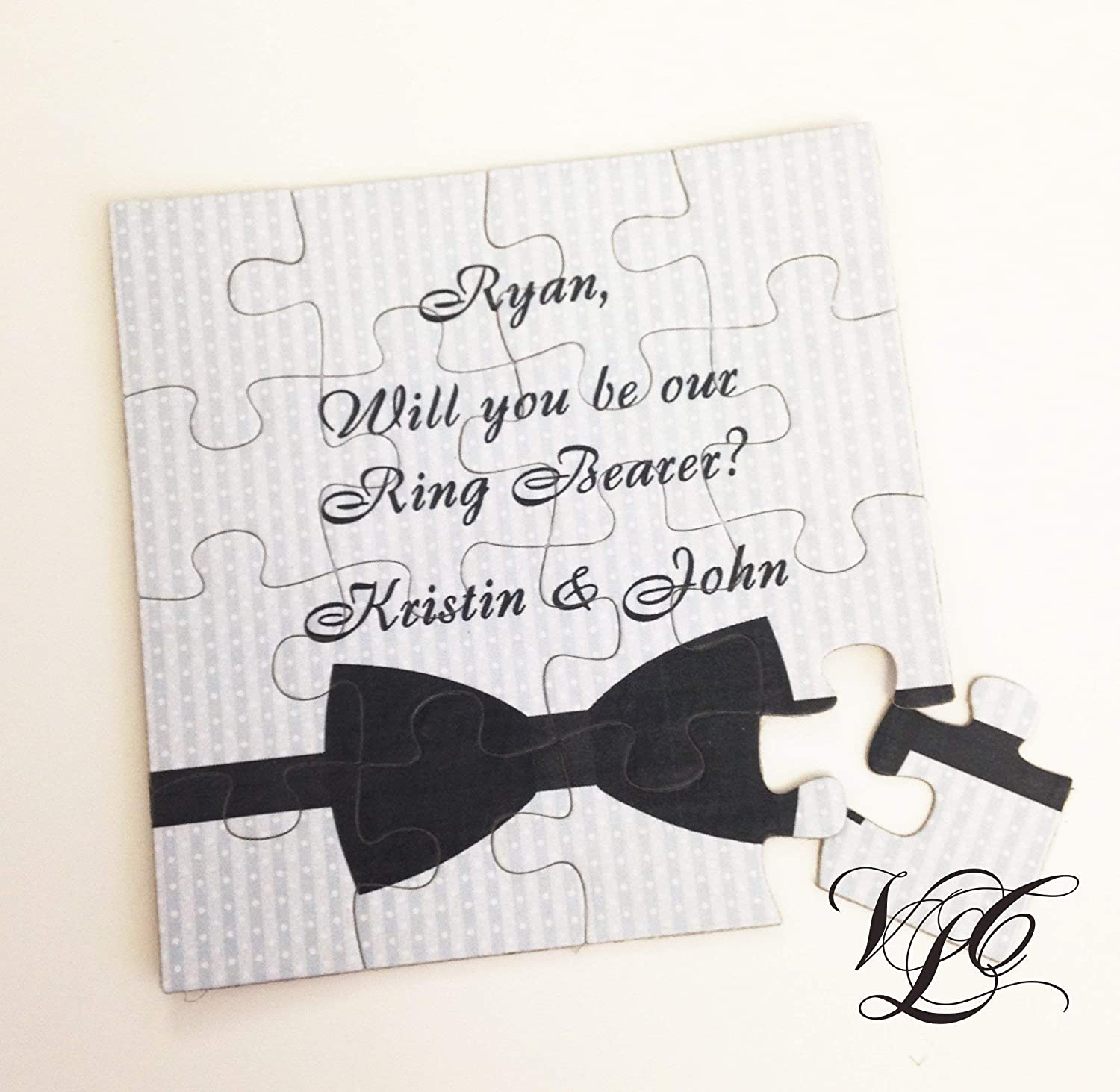 low-pricing Virginia Beach Mall Personalized Ring Bearer Invitation puzzle proposal