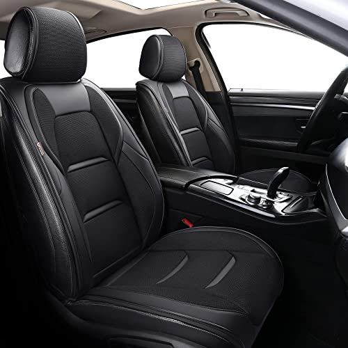 lowest Coverado Front Seat Covers, new arrival Waterproof Leatheratte Car Seat Protector 2 Pieces, Protective Seat Cushions Universal Fit Most Vehicles, online Sedans, SUVs, Trucks and Vans, Oval Pattern outlet online sale