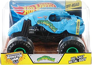 Hot Wheels Monster Jam Crushstation Die-Cast Vehicle 1:24 Scale, Blue