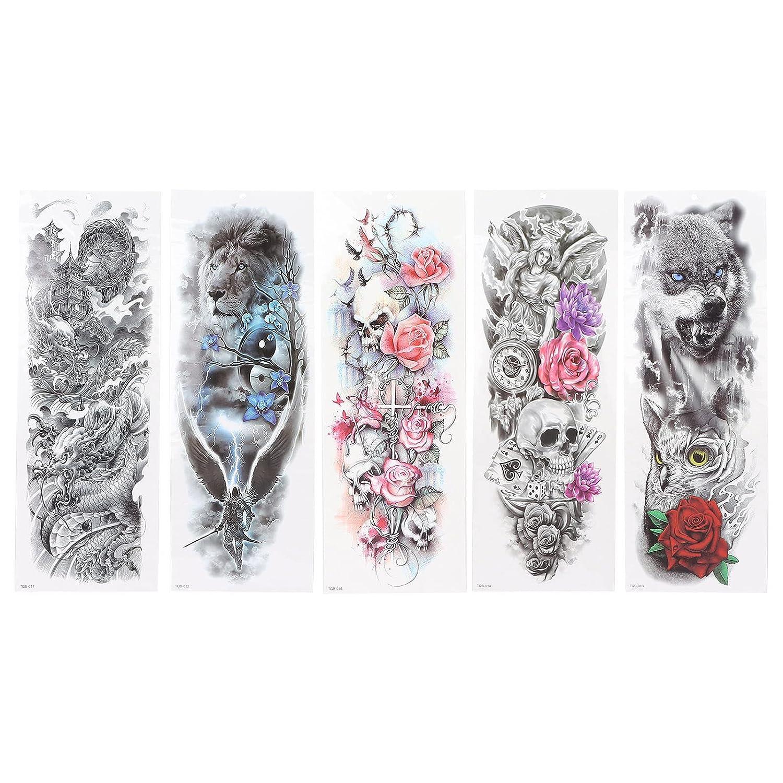 Sale Personalized Tattoo Stickers Full Sleeve Tiger Popular standard S