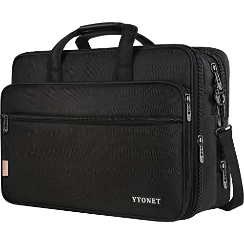18 Inch Laptop Bag, Extra Large Briefcase for Men Women, Expandable Multifunctional Laptop Case