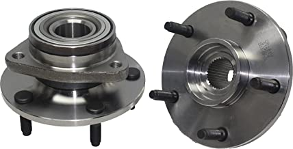 Detroit Axle - (Both) Front Wheel Hub and Bearing Assembly For - 1994-1999 Dodge Ram 1500 4x4 5-Lug [NO ABS]